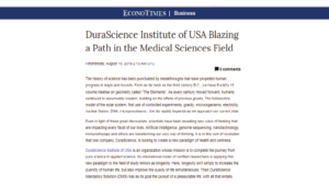 DuraScience Institute Of USA Blazing A Path In The Medical Sciences Field