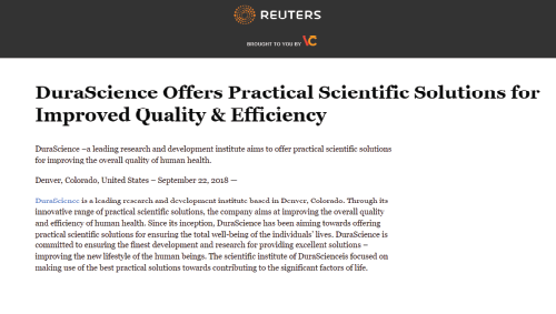 DuraScience Offers Practical Scientific Solutions For Improved Quality & Efficiency