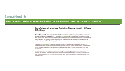 DuraScience Launches ExCell To Elevate Health Of Every Life Stage