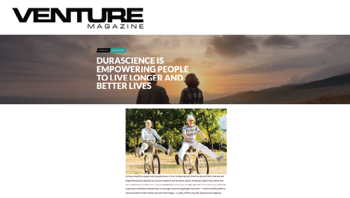 DURASCIENCE IS EMPOWERING PEOPLE TO LIVE LONGER AND BETTER LIVES