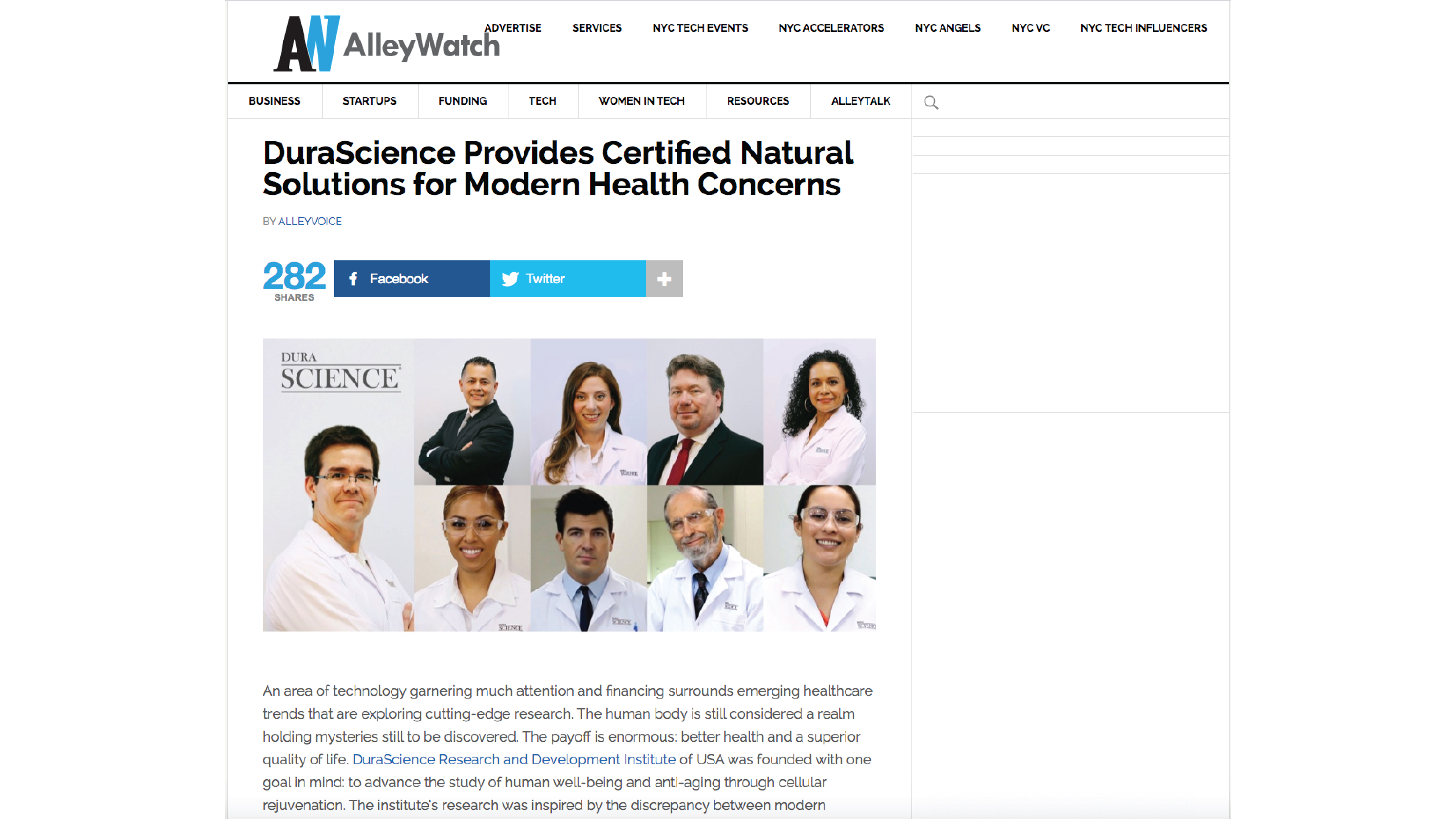 DuraScience Provides Certified Natural Solutions For Modern Health Concerns