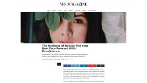 The Business Of Beauty: Put Your Best Face Forward With DuraScience